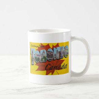 TORONTO CANADA - Vintage Travel Art Coffee Mug