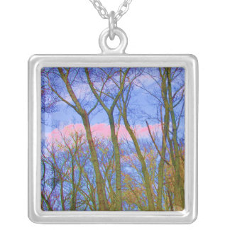 TORONTO CENTRE ISLAND Fall Tree Branches Personalized Necklace
