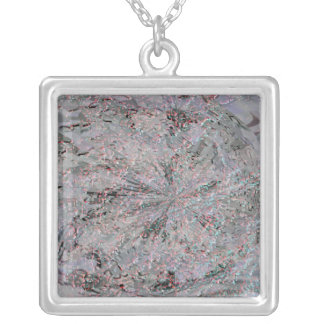 TORONTO CENTRE ISLAND Rough Silver Waves Silver Plated Necklace