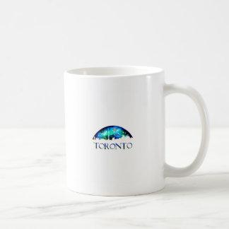 Toronto city skyline at night coffee mug