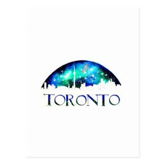 Toronto city skyline at night postcard