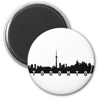 toronto cityscape canada city symbol black silhoue magnet