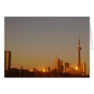 Toronto Cityscape Greeting Card
