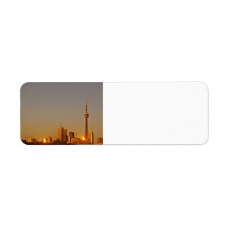 Toronto Cityscape Return Address Label