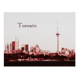 Toronto con la postal del horizonte de la torre de