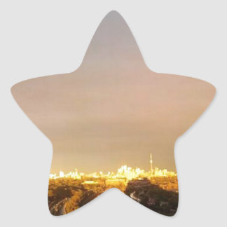 TORONTO East Horizon: VIEW form QUEENSWAY West Star Stickers
