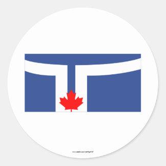 Toronto Flag Round Stickers