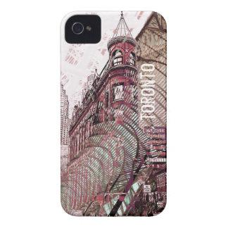 Toronto flat iron building collage i-phone case Case-Mate iPhone 4 case
