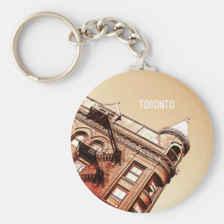 Toronto Flat iron building Basic Round Button Keychain