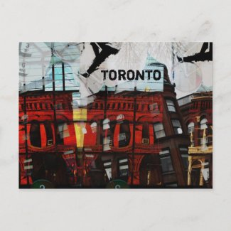 toronto flat iron building postcard postcard