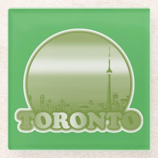 Toronto Green Sun Glass Coaster