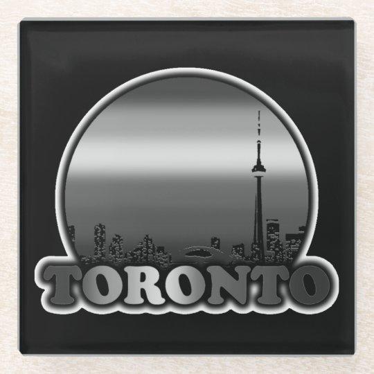 Toronto Greyscale Sun Glass Coaster