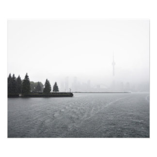 Toronto Harbour Skyline in the Rain Photograph