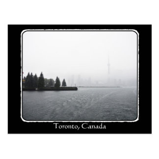 Toronto Harbour Skyline in the Rain with border Post Cards