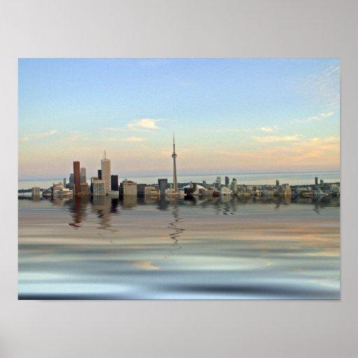Toronto inundado póster