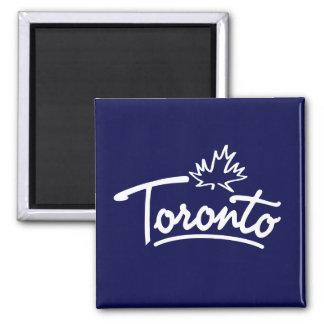 Toronto Leaf Script 2 Inch Square Magnet