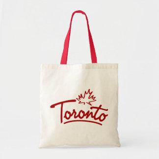 Toronto Leaf Script Budget Tote Bag