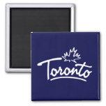 Toronto Leaf Script Fridge Magnet