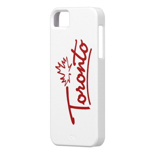 Toronto Leaf Script iPhone SE/5/5s Case
