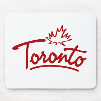 Toronto Leaf Script Mouse Pad