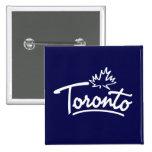 Toronto Leaf Script Pins