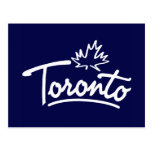 Toronto Leaf Script Postcard