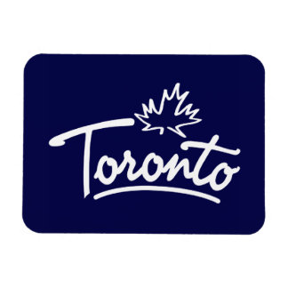Toronto Leaf Script Rectangular Photo Magnet