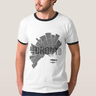 Toronto Map Ringer T-Shirt
