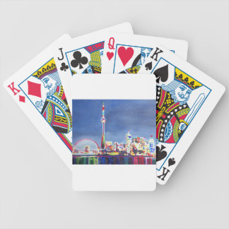 Toronto Neon Shimmering Skyline with CN Tower Deck Of Cards