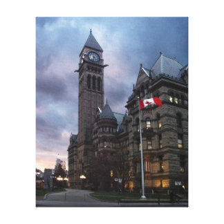 Toronto Old City Hall at Dusk Stretched Canvas Print