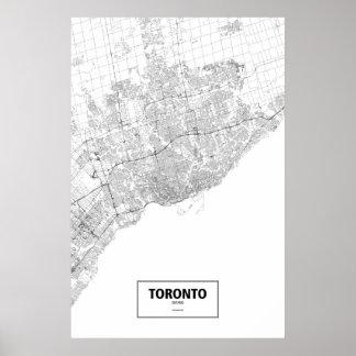 Toronto Ontario black on white Posters