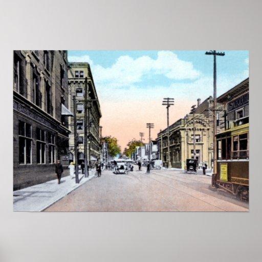 Toronto Ontario Canada Bloor Street at Yonge Poster