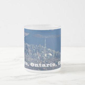 Toronto Ontario Canada Frosted Glass Coffee Mug