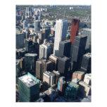 Toronto, Ontario, Canadá, horizonte constructivo Plantilla De Membrete