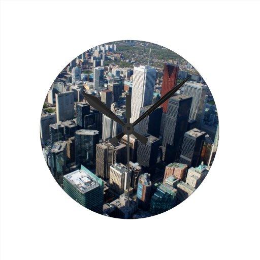 Toronto, Ontario, Canadá, horizonte constructivo Reloj Redondo Mediano