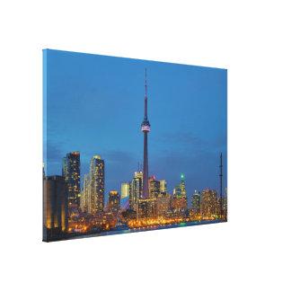 Toronto Ontario Canada Skyline At Night Canvas Print