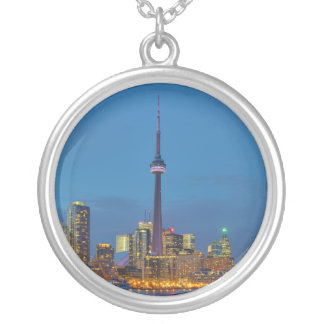 Toronto Ontario Canada Skyline At Night Personalized Necklace