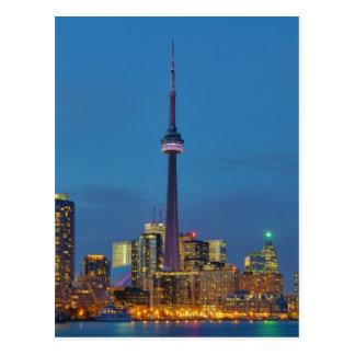 Toronto Ontario Canada Skyline At Night Post Card