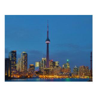 Toronto Ontario Canada Skyline At Night Postcard