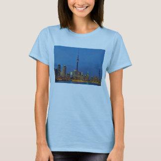 Toronto Ontario Canada Skyline At Night T-Shirt