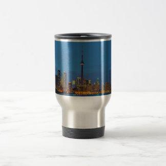 Toronto Ontario Canada Skyline At Night Travel Mug