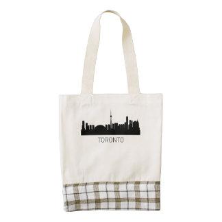 Toronto Ontario Cityscape Zazzle HEART Tote Bag