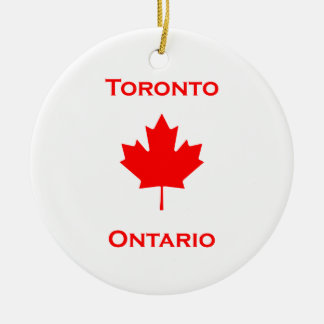 Toronto Ontario Maple Leaf Ceramic Ornament