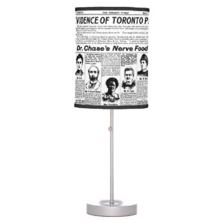 Toronto people vintage newspaper lamp