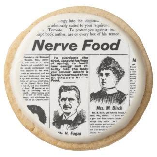 Toronto people vintage newspaper round shortbread cookie