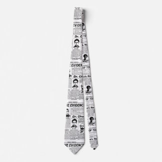 Toronto people vintage newspaper tie