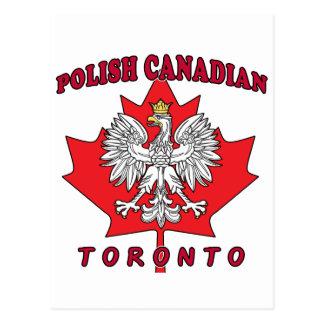 Toronto Polish Canadian Leaf Postcard