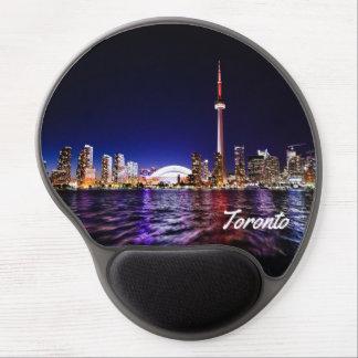 Toronto por noche alfombrilla para ratón de gel