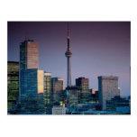 Toronto, por noche, Ontario, Canadá Postal