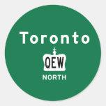 Toronto QEW Pegatina Redonda